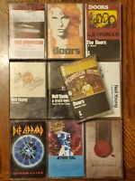 70's 80's Rock Cassette Lot Of 10 The Doors Neil Young Def Leppard The Boss