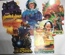 Vintage Atari store advertising SIGN dated 1982 DOUBLE SIDED Lot of 5! Look!