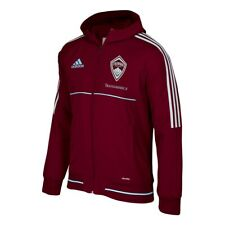 Colorado Rapids MLS Adidas Men's Climalite Burgundy Hooded Travel Jacket