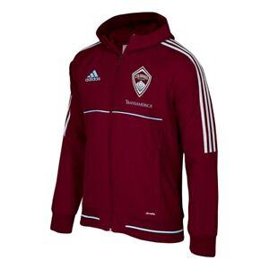 Colorado Rapids MLS Adidas Men's Climalite Burgundy Hooded Travel Jacket