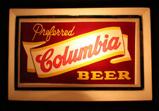 COLUMBIA BEER LIGHTED BACK BAR BEER SIGN SHENANDOAH, PENNSYLVANIA PENN. PA COAL+