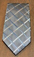 DONALD J. TRUMP SIGNATURE COLLECTION Gray Silver Blue Basketweave Silk Neck Tie