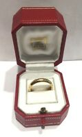 AUTHENTIC CARTIER 18K YELLOW GOLD RING 4MM WIDE BAND SIZE 58