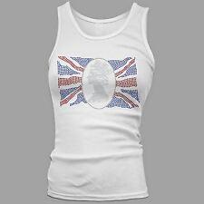 Women's Union Jack Queen in Silhouette Rhinestone Tank Top