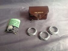 Vintage Polaroid Close-Up Lens Kit   #1, #2, #3 book, case and tape