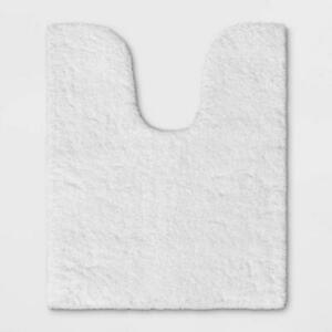 Threshold Spa Contour Bath Rug White Rubber Latex Back Stain Resistant 24x20