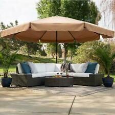 16ft Extra-Large Outdoor Patio Market Umbrella w/Cross brs,Crank Handle,Air Vent