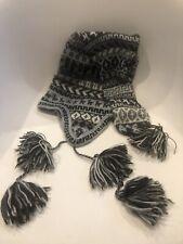 South American One Size Grey Alpaca Llama EUC Winter Beanie Knit Hat