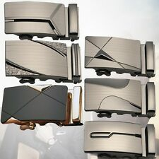 Luxury Leather Men's Automatic Buckles Fashion NO Waist Strap Belt Waistband LD