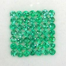 Lot de 49 Emeraudes de Zambie (2,5 mm), taillées à la machine/2,60 carats