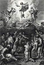 TRANSFIGURATION 1826 Raphael - I. Bromley ANTIQUE ENGRAVING