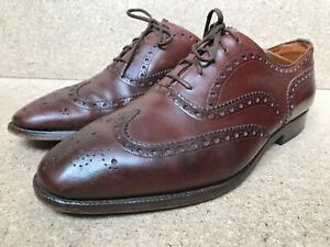 Church's Vintage CHETWYND Brown Leather Brogue Dress Shoes Sz UK 9.5 F | US 10.5