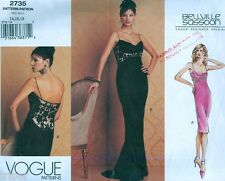 Vogue Sewing PATTERN Bellville Sassoon Cowl Neck Evening Gown Dress Size 14-18