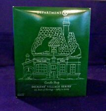 "New ListingDept. 56 Dickens' Village Series ""Candle Shop"" 25th Anniversary #808848 Nib"