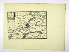 OUDENARDE FLANDERN BELGIEN SELTENE KUPFERSTICH KARTE BEAULIEU 1665 #D857S
