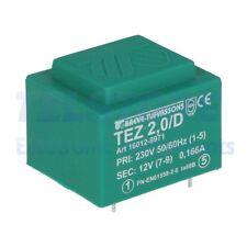 1pcs  Trasformatore incapsulato 2VA 230VAC 12V Montaggio PCB IP00 TELSTORE