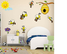 New ListingHoney Bee Wall Sticker Baby Kids Room Cartoon Decal Animal Art Mural Home Decor