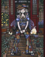 Bohemian Farm Girl Country Fairy Tiny House Chickens Signed Adaline Prints Myka