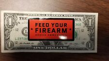 Aguila Ammunition Feed Your Firearm Red Sticker Small Decal OEM Original
