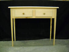 """Unfinished 36"""" Sofa, Console Beveled Edge Pine table w/Tapered Leg & 2 drawers"""