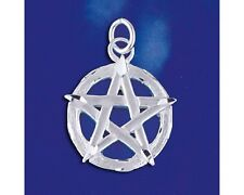Sterling Silver Star Pentagram Pendant Symbol of Faith Wiccan Charm 925 Italy