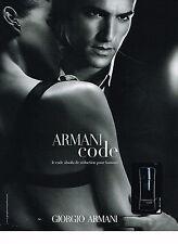 PUBLICITE ADVERTISING 054  2008   ARMANI CODE  parfum homme               310514