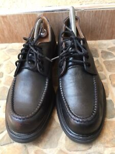 Red wing Classic Oxfords Men's Moc-Toe Black Leather shoes size USA 11B/UK 10