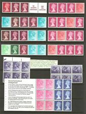 GB MACHIN SELECTION ON TWO PAGES, COILS, BOOKLET PANES MNH. SEE SCAN FOR ACTUAL