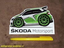 SKODA Fabia R5 - original Skoda motorsport sticker/Aufkleber