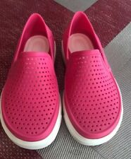 Crocs Citilane Roka Kids Shoes Size 10  Bubble Gum Pink White