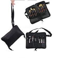 28 Pocket Makeup Bag PU Leather Cosmetic Brushes Case Tool Belt Strap Holder HE