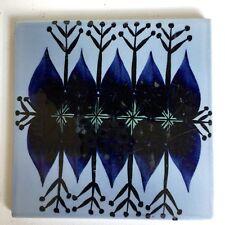 Royal Copenhagen Denmark Fajance Tile 6x6 Vtg Mid Century Cobalt Blue Breyen