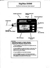 5 PAGE SCANNED MANUAL FOR FOWLER DIGI-MAX D1040 DIGITAL INDICATOR