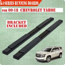 "For 00-18 CHEVROLET Tahoe 4"" Nerf Bar Side Bar Running Board Side Step BLACK H"