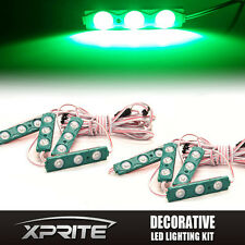 Xprite 8PC 24 LED Light Pod Strip Panel Car Truck Interior Door Dome Trunk GREEN