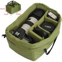 Large Waterprof DSLR SLR Camera Bag Partition Padded Insert Case Cover Pouch New