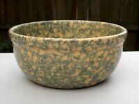 Spongeware Sponge Ware Yellow Ware Yellow with Blue-Green Bowl Antique