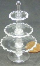 1:12 Scale 3 Tier Glass Cake Sandwich Stand Tumdee Dolls House Accessory G15a