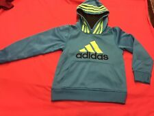 Adidas Hoodie Size 7x Teal, Lime, Black Back To School (Boy Or Girl)