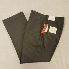 Perry Ellis Portfolio Dress Pants 34x29 Gray Pinstripe Modern Fit Straight Leg