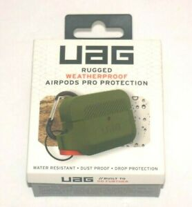 Urban Armor Gear Soft Silicone Weatherproof Case for Airpods Pro - Green/Orange