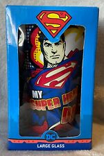 Superman - My Superhero Dad - Large Glass - Brand New