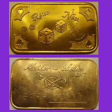 RENO NEV.  -   Mother Lode Mint  1 oz  Bronze Bar  #00517 or #00518