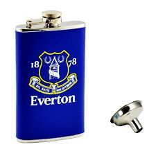 Blue Everton Leather Bound Sleeve Hipflask