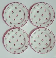 "Johnson Brothers Bonjour 4 Bread and Butter Plates Burgundy 7"" England UNUSED"