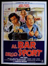 M128 MANIFESTO 4F AL BAR DELLO SPORT BANFI CALA' VENIER TOTOCALCIO 1° ED.1983