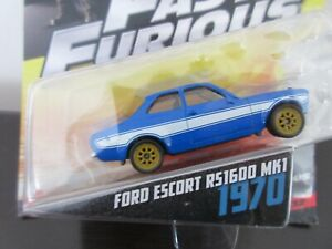 Mattel  - Fast and Furious 6 - 1970 Ford Escort Blue RS1600 MK1
