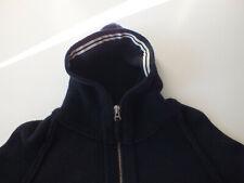 Stone Island Dark Navy Blue Black Knit Hooded Full zip Cardigan XL wool XXL
