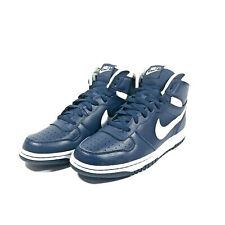 Big Nike High Retro Shoes Navy Midnight Blue White Men's Size 9.5 NWB 336608-410