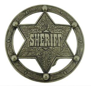 New Star Belt Buckle Texas Usa Sheriff Western Rodeo Cowboy Silver Metal Aztec